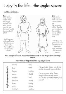 A Day in the Life... the Anglo-saxons Worksheet