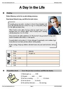 A Day in the Life... Worksheet