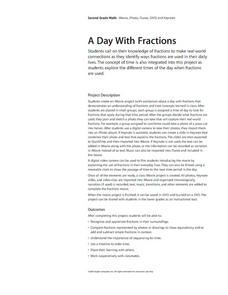A Day With Fractions Lesson Plan