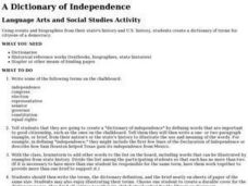 A Dictionary of Independence Lesson Plan