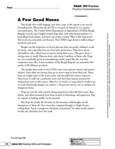 A Few Good Noses: Read for Detail Worksheet