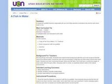 A Fish in Water Lesson Plan