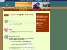 A GHG Challenge for Northerners Lesson Plan