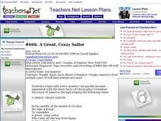 A Great, Crazy Sailor Lesson Plan