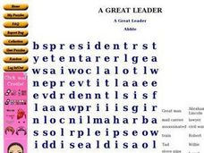 A Great Leader Worksheet