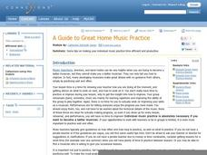 A Guide to Great Home Music Practice Lesson Plan