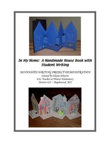 A Handmade House Book with Student Writing Lesson Plan