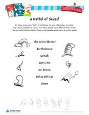 A Hatful of Seuss! Worksheet