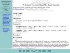 A History Treasure Hunt: The Time Capsule Lesson Plan