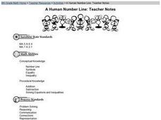 A Human Number Line Lesson Plan