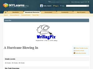 A Hurricane Blowing In Lesson Plan