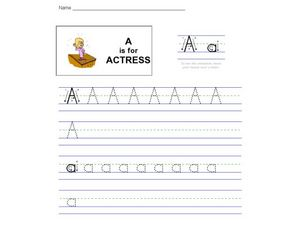 A is for Actress Worksheet