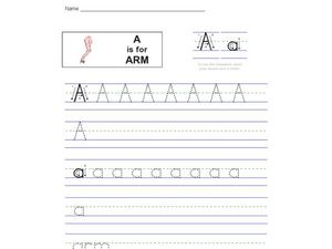 A is for Arm Worksheet