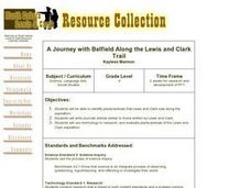 A Journey with Belfield Along the Lewis and Clark Trail Lesson Plan