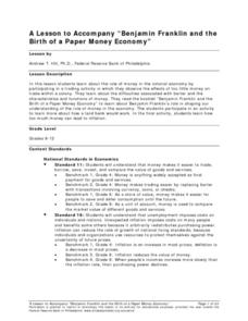 "A Lesson to Accompany ""Benjamin Franklin and the Birth of a Paper Money Economy"" Lesson Plan"