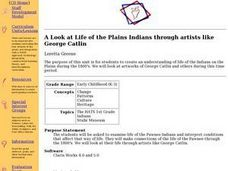 A Look at Life of the Plains Indians through artists like George Catlin Lesson Plan