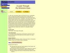 A Look Through My Antonia's Eyes Lesson Plan