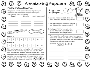 A-Maize-ing Popcorn 1st - 2nd Grade Worksheet | Lesson Planet