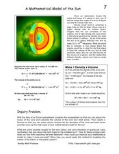 A Mathematical Model of the Sun Worksheet