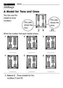 A Model for Tens and Ones: Reading an Abacus Worksheet