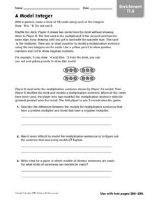 A Model Integer - Enrichment 11.6 Worksheet