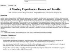 A Moving Experience - Forces and Inertia Lesson Plan