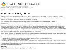 A Nation of Immigrants Lesson Plan