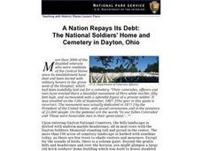 A Nation Repays Its Debt: The National Soldiers' Home and Cemetery in Dayton, Ohio Lesson Plan