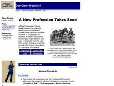 A New Profession Takes Seed Lesson Plan