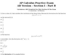 Printables Ap Calculus Worksheets ap calculus worksheets davezan