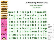 A Peat Bog Wordsearch Worksheet