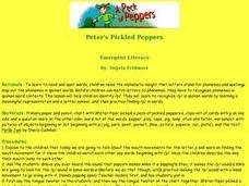 A Peck of Peppers Lesson Plan