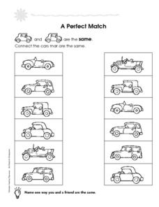 A Perfect Match and Number 3 Worksheet