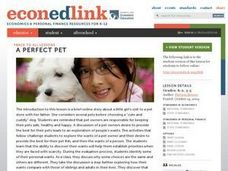 A Perfect Pet Lesson Plan