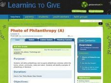A Photo of Philanthropy Lesson Plan