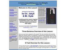 A Poem For Two Voices for Dr. Jekyll & Mr. Hyde Lesson Plan