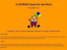 A (PURIM) Feast for the Mind Lesson Plan