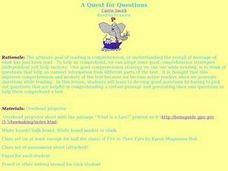 A Quest for Questions Lesson Plan