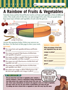 A Rainbow of Fruits & Vegetables Worksheet