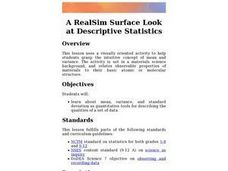 A RealSim Surface Look at Descriptive Statistics Lesson Plan