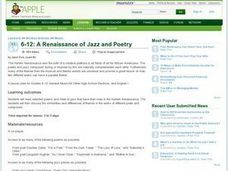 A Renaissance of Jazz and Poetry Lesson Plan
