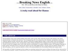A Rocky Road Ahead for Hamas (Harder Level) Worksheet