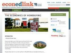 A Roof Of Your Own: Homeownership, Mortgages, Economics, Math Lesson Plan