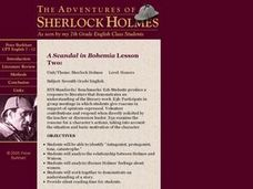 A Scandal in Bohemia Lesson Two Lesson Plan