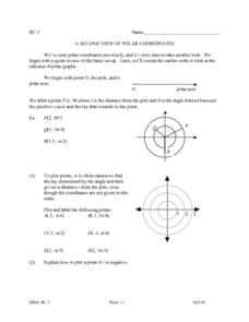 A Second View of Polar Coordinates Lesson Plan