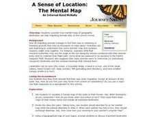 A Sense of Location:  The Mental Map Lesson Plan