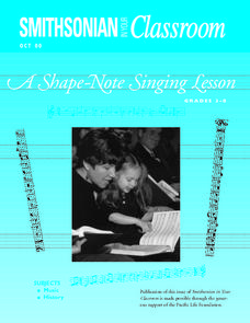 A Shape-Note Singing Lesson Lesson Plan