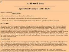A Shared Past: Agricultural Changes in the 1920s Lesson Plan