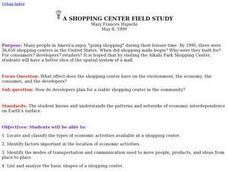 A Shopping Center Field Study Lesson Plan