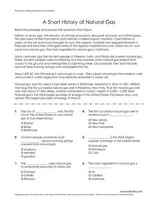 A Short History of Natural Gas Worksheet